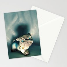 Demon Bulldog With Plastic Gemstone Eyes Stationery Cards