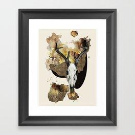 Deer Skull by carographic Framed Art Print