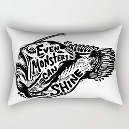 Even monsters can shine Rectangular Pillow