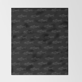 Invisible Blind Fish Throw Blanket