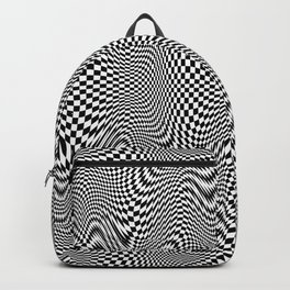 Checkered moire X Backpack