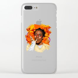 Crazy eyes Clear iPhone Case