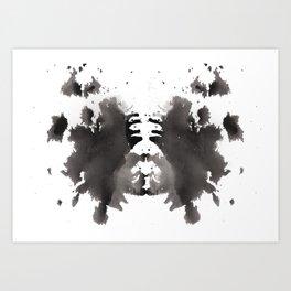 Rorschach test 1 Art Print