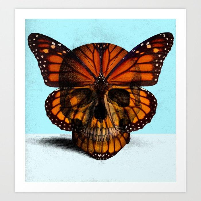 SKULL (MONARCH BUTTERFLY) Art Print