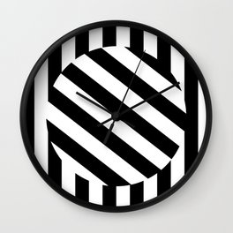 The Turning Point - Abstract Minimalism Art (3) Black & White Wall Clock