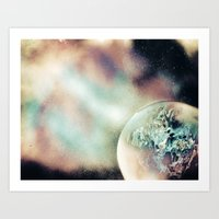 outer space Art Prints featuring Outer Space by InfiniteSprayArt