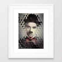 charlie chaplin Framed Art Prints featuring Charlie Chaplin by Mahdi Chowdhury