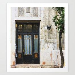 Elegant Door With Tree Art Print