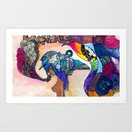 THE EXHALE Art Print