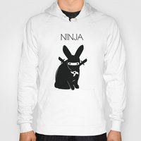 ninja Hoodies featuring NINJA by RAGING BUNNIES
