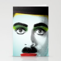 charlie chaplin Stationery Cards featuring charlie chaplin by mark ashkenazi