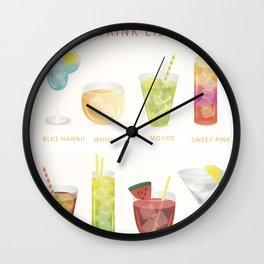 Summer Cocktails 7 Wall Clock