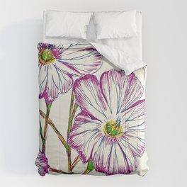Purple flower pattern Comforters