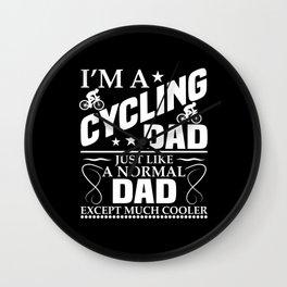 Bike Bike Dad Cycling Cycling Race Biker Wall Clock