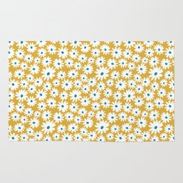 Daisies - Spring - Yellow Rug