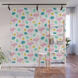 Flamingo Pattern 2 Wall Mural