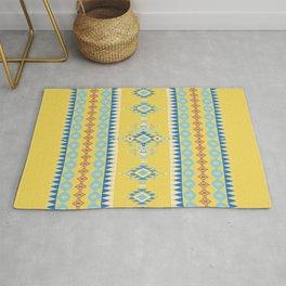 Bright Boho Tribal Pattern Rug