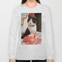 Orazio the charming cat Long Sleeve T-shirt