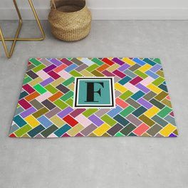 F Monogram Rug