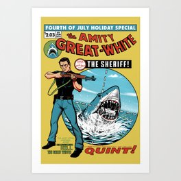 The Amity Great White Art Print