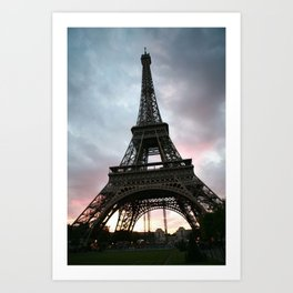 Cotton Candy Sky Eiffel Art Print