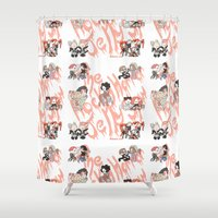 rocky horror Shower Curtains featuring Rocky Horror Jelly Show by Nekodra