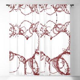 Circles make Heart Multi Design Line Art Blackout Curtain