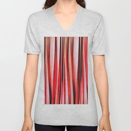 Red Adventure Striped Abstract Pattern Unisex V-Neck