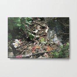 River of Garbage Metal Print