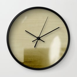 Minimalist Landscape, Modern Abstract, Neutral, Muted Palette, Abstract Contemporary Photography Wall Clock