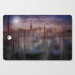 City-Art VENICE Gondolas at Sunset Cutting Board