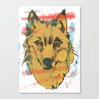 howl Canvas Prints featuring HOWL by Galvanise The Dog