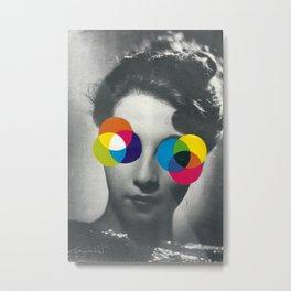 Psychedelic glasses Metal Print