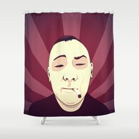 smoke Shower Curtains featuring Smoke by FalcaoLucas