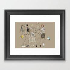 The Cool Kids. Framed Art Print