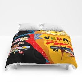 Vintage poster - Las Vegas Comforters