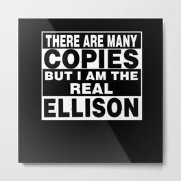 Team ELLISON Family Surname Last Name Member Metal Print