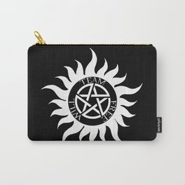 Team Free Will Anti-Possession Symbol - Supernatural (White) Carry-All Pouch