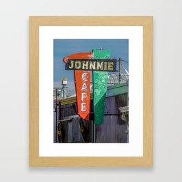 Johnnie Cafe Framed Art Print