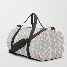 Orange and Grey Wheat Pattern Duffle Bag