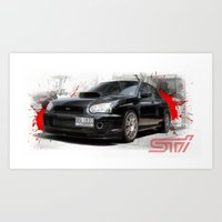 subaru Art Prints featuring Cars: Subaru WRX STI by Urbex :: Siam