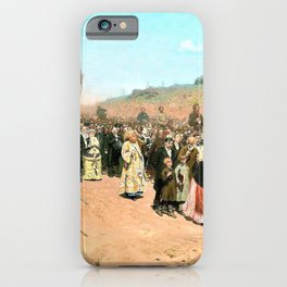 Religious Procession in Kursk Gubernia - Ilya Yefimovich Repin iPhone Case