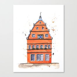 whimsical house in Germany Canvas Print