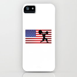USA Powerlifting Athletes Weightlifting Sports Competition Cool Athletic Gift Design iPhone Case