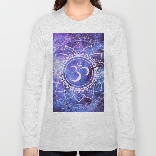 Om Mandala Purple Lavender Blue Galaxy by vintageby2sweet