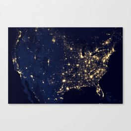 Views of the United States Canvas Print