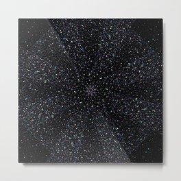 Magic Night Glitter Mandala I. Metal Print