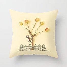 Human and Nature Throw Pillow