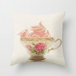 Pink Meringues Throw Pillow