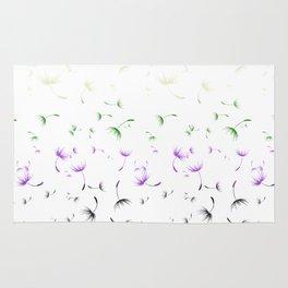 Dandelion Seeds Genderqueer Pride (white background) Rug